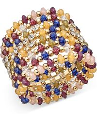 INC International Concepts - I.n.c. Gold-tone Multi-bead Coil Bracelet, Created For Macy's - Lyst