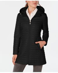 Lyst - Cole Haan Back Bow Packable Hooded Raincoat 215ad2132