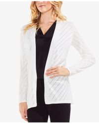Vince Camuto - Pointelle Cardigan - Lyst