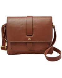 Fossil Kinley Small Leather Crossbody - Brown