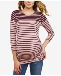 Jessica Simpson - Maternity Ruched Jersey Top - Lyst