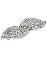 Charter Club Silver-tone Crystal Hair Clip, Created For Macy's - Metallic