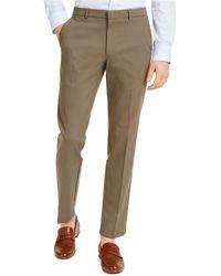 Tommy Hilfiger Modern-fit Th Flex Stretch Comfort Solid Dress Pants - Green