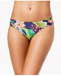La Blanca - Bora Bora Printed Side-shirred Bikini Bottoms - Lyst