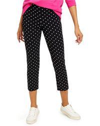 Charter Club Petite Capri Tummy-control Skinny Pants, Created For Macy's - Black