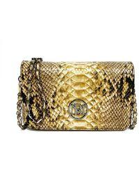 Badgley Mischka Square Leopard Chain Mini Everyday Bag - Metallic