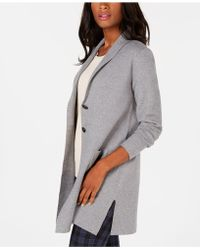 Charter Club Blazer Sweater, Created For Macy's - Gray