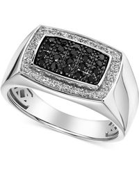 Macy's Halo Cluster Ring (1/2 Ct. T.w.) In 10k White Gold - Metallic