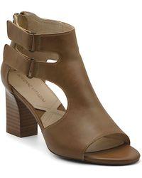 Adrienne Vittadini Rea Block Heel Sandals - Brown