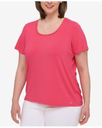 Tommy Hilfiger - Plus Size Short-sleeve Top - Lyst
