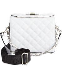 672faaccecc6 Steve Madden - Chrissy Webbed-strap Patent Box Bag - Lyst