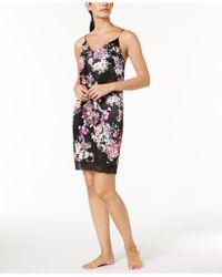 Linea Donatella - Floral-print Lace-trim Chemise - Lyst