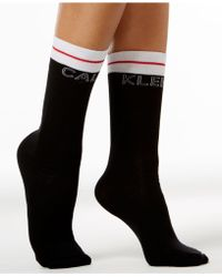 CALVIN KLEIN 205W39NYC Logo Tube Socks - Black