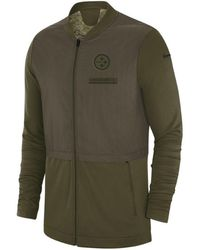 Lyst - Nike Men s Salute To Service Hybrid Half-zip Jacket in Green ... ee10194b8