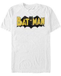 Fifth Sun Batman Retro Bat Logo Short Sleeve T-shirt - White
