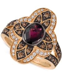 Le Vian | Rhodolite Garnet (1 Ct. T.w.) And Diamond (5/8 Ct. T.w.) Statement Ring In 14k Rose Gold | Lyst