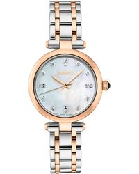 Seiko - Diamond-accent Two-tone Stainless Steel Bracelet Watch 30mm - Lyst