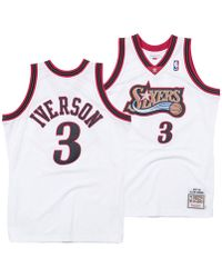 online store ac012 c9a0f Mitchell & Ness Nba Gold Iverson Jersey for Men - Lyst