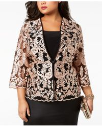 Alex Evenings - Plus Size Embroidered Lace Jacket & Shell - Lyst