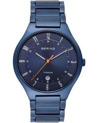 Bering Blue Titanium Bracelet Watch 39mm
