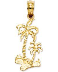 Macy's - 14k Gold Charm, Palm Trees Charm - Lyst