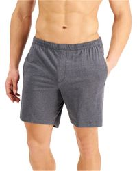 Alfani Quick-dry Pyjama Shorts, Created For Macy's - Grey