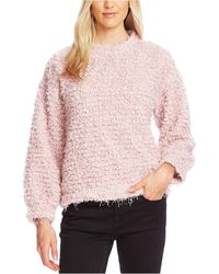 Vince Camuto - Teddy-knit Mock-neck Sweater - Lyst