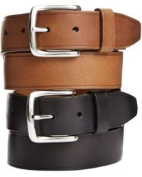 Cole Haan Buff Harness Leather Belt - Brown