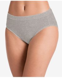 Jockey Cotton Stretch Hi Cut 1555, Created For Macy's, Also Available In Extended Sizes - Gray
