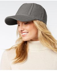 INC International Concepts - I.n.c. Cable-knit Packable Baseball Cap, Created For Macy's - Lyst