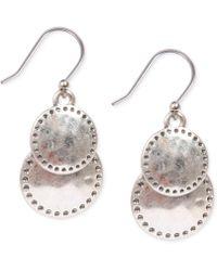 Lucky Brand - Silver-tone Double Drop Earrings - Lyst