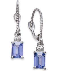 Macy's - Tanzanite (1-1/5 Ct. T.w.) & Diamond Accent Drop Earrings In 14k White Gold - Lyst
