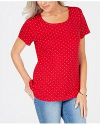 Karen Scott - Scoop-neck T-shirt, Created For Macy's - Lyst