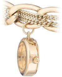 Juicy Couture Woman's , 1040gpch Charm Bracelet Watch - Metallic