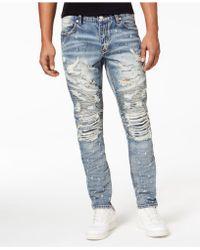 Heritage America Destruction Denim Jeans - Blue
