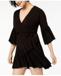 French Connection - Ruffled Wrap Dress - Lyst