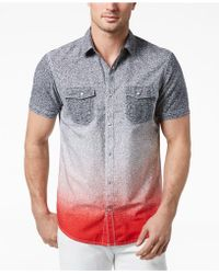 INC International Concepts - Dip-dyed Heathered Shirt, Created For Macy's - Lyst