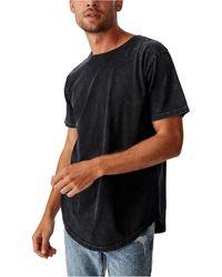 Cotton On Longline Scoop Burnout T-shirt - Black
