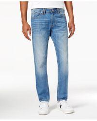 Sean John - Men's Light Blue Straight-leg Jeans - Lyst