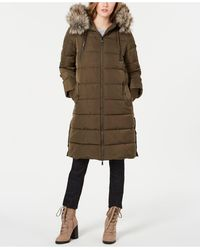 BCBGeneration Faux-fur Hooded Puffer Coat - Multicolor