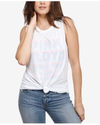 Lucky Brand - Cutout Pink Floyd Graphic Tank Top - Lyst