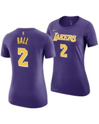 844a533320f9 Nike - Lonzo Ball Los Angeles Lakers Name And Number Player T-shirt - Lyst