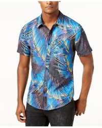 Guess - Electric Palm Tree Shirt - Lyst
