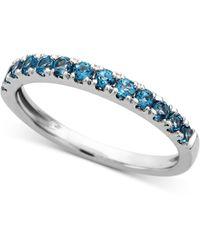 Macy's London Blue Topaz Stack Ring (1/2 Ct. T.w.) In 14k White Gold