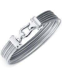 Charriol - Women's Silver-tone Cable Bangle Bracelet - Lyst