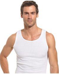 Alfani Underwear, Ribbed Tank Top 5 Pack - Black