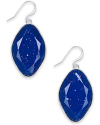 Style & Co. Stone Drop Earrings, Created For Macy's - Blue