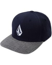 Volcom - Flex-fit Heathered Logo Hat - Lyst