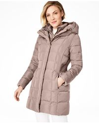 Cole Haan - Petite Hooded Down Puffer Coat - Lyst