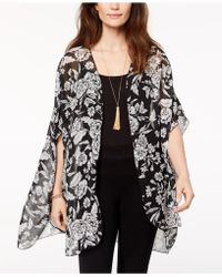 Style & Co. | Floral-print Kimono, Created For Macy's | Lyst